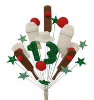 Cricket 13th birthday cake topper decoration - free postage